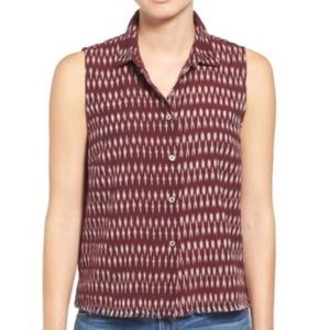 Madewell moment collared sleeveless top